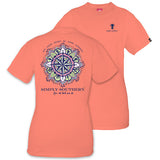 Simply Southern Tees Preppy T-Shirt - Heart Be Your Compass - Color Poppy