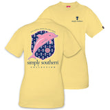 Simply Southern Tees Preppy Dolphin T-Shirt - Live Simply Dream Big Stay Sweet - Color Sunrise
