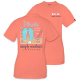 Simply Southern Tees Preppy T-Shirt - Flip Flop State Of Mind - Color Poppy