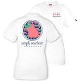 Simply Southern Tees Preppy T-Shirt - Georgia Raised - Color White