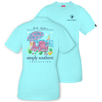 Simply Southern Tees Preppy Beach T-Shirt - Salt Water Heals - Color Marine