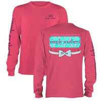 Simply Southern Tee Preppy Floral Logo Long Sleeve T-Shirt