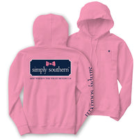 Simply Southern Bow Logo Long Sleeve Lightweight Hoodie T-Shirt