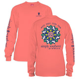 Simply Southern Tees Long Sleeve T-Shirt - Seek Magic Every Day - Color Sunglow