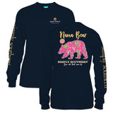 Simply Southern Tees Long Sleeve T-Shirt - Nana Bear - Color Navy