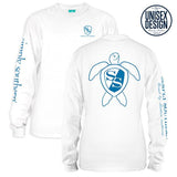 Simply Southern Tees Long Sleeve T-Shirt - Logo Turtle - Color White
