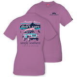 Simply Southern Tees Preppy Jeep T-Shirt - Mountain Hair Don't Care - Color Eggplant