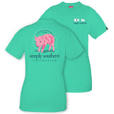 Simply Southern Tees Preppy Piglet T-Shirt - Traditional Southern Lifestyle - Color Aruba