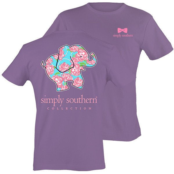 Simply Southern Tees - Preppy & Happy Rose Elephant T-Shirt