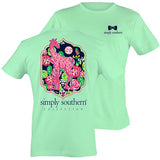 Simply Southern Preppy Giraffe Pattern Mint T-Shirt