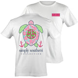 Simply Southern Preppy Sea Turtle Shell Anchor T-Shirt