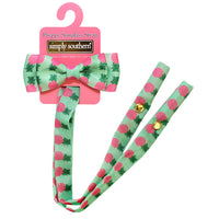 Simply Southern Preppy Sunglass Strap Retainer in Pineapple Print With Bow