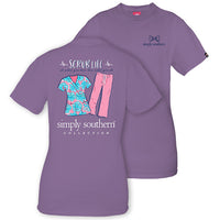 Simply Southern Tees - Scrub Life Nurse T-Shirt - Color Amethyst