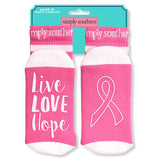 Simply Southern Socks - Live Love Hope - Ribbon