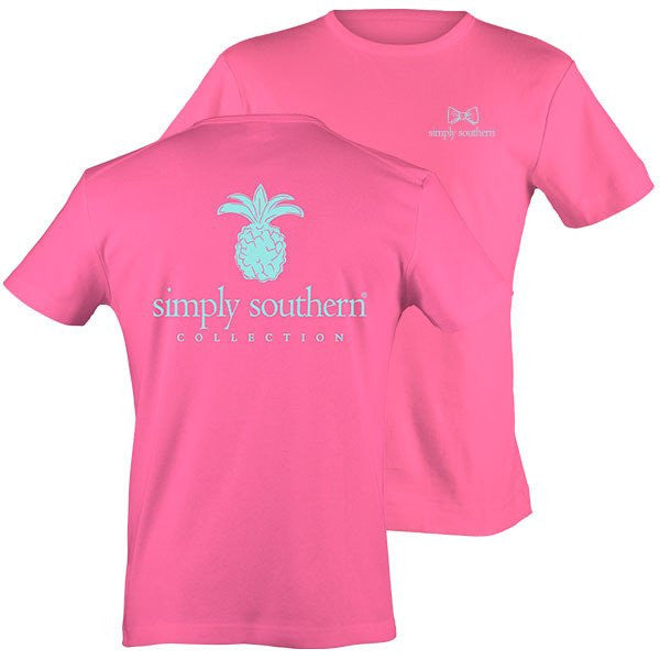 Simply Southern Tees Classic Preppy Pineapple Pink T-Shirt
