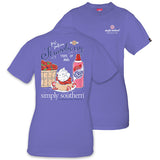 Simply Southern Tees Preppy T-Shirt - Strawberry Shortcake - Color Periwinkle