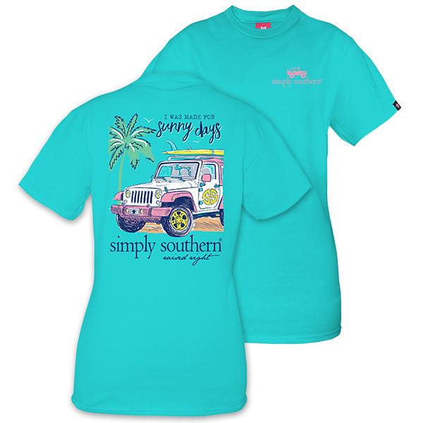 Simply Southern Tees Preppy Jeep T-Shirt - Sunny Days - Tee Color Pool
