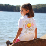 Youth Itsa Girl Thing T-Shirt - Sweet As A Peach - Color White