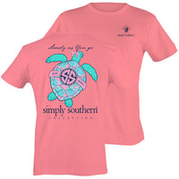 Simply Southern Tees Preppy Turtle Steady As You Go - Pink T-Shirt