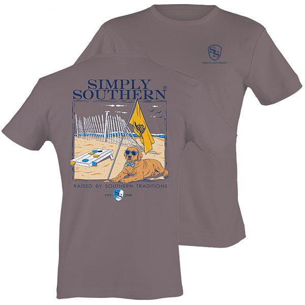 Simply Southern Tees Preppy Unisex T-Shirt - Raised By Southern Traditions - Color Steel