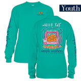 Youth Simply Southern Tees Long Sleeve T-Shirt - Hello Fall - Jeep & Pumpkins