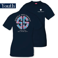 Youth Simply Southern Tees Preppy Logo T-Shirt - Tried & True - Color Navy