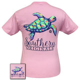 Girlie Girl Originals T-Shirt - Watercolor Turtle - Color Classic Pink