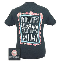 Girlie Girl Originals T-Shirt - Blessings Call Me Mimi - Color Dark Heather