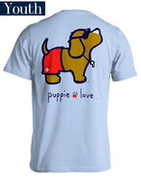 Youth Puppie Love Tee - Lifeguard Pup - Puppy T-Shirt - Color Light Blue