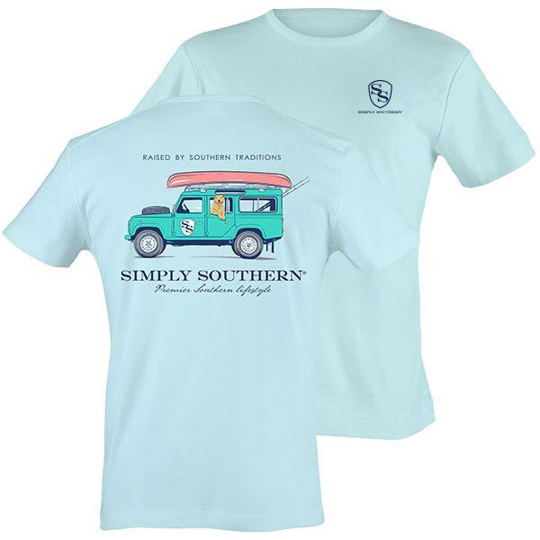 Simply Southern Tees Preppy Unisex T-Shirt - Jeep SUV - Color Bubbles