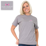 Simply Southern Tees Preppy T-Shirt - Oklahoma - Flower Design - Color Steel