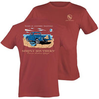 Simply Southern Tees Preppy Unisex T-Shirt - Truck Southern Traditions - Color Brick