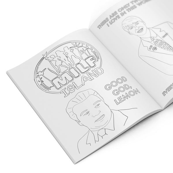 30 ROCK Colouring Book