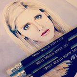 What would Buffy do? Pencil Set