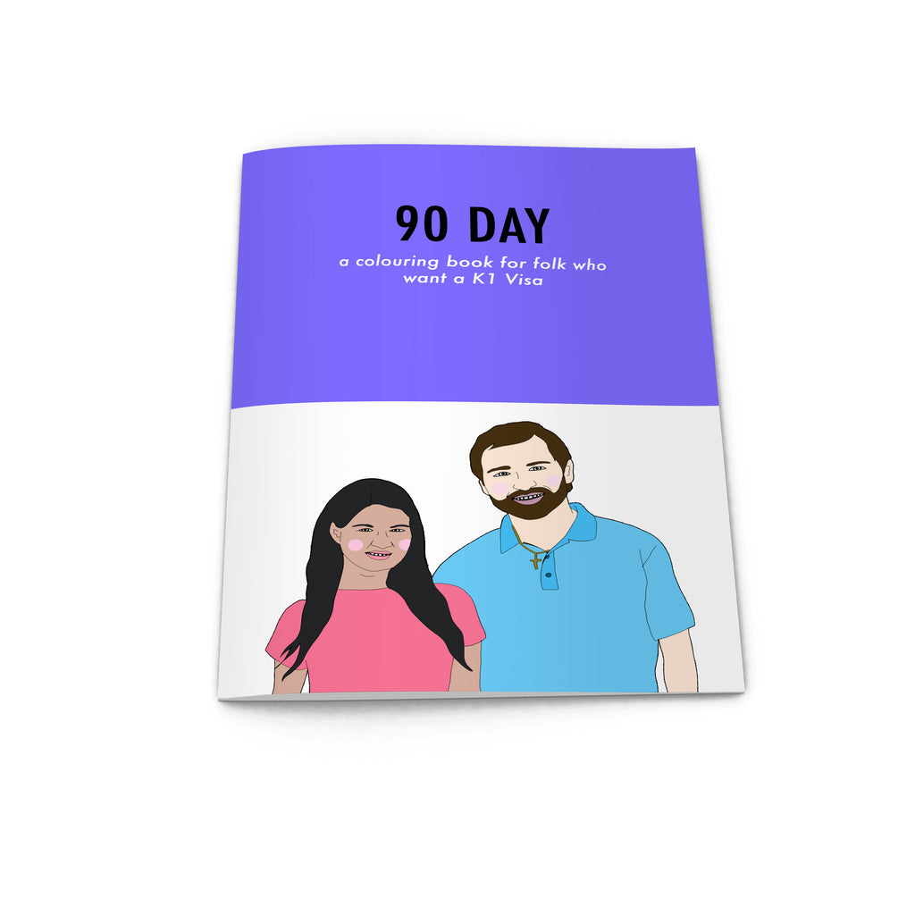 90 DAY Colouring Book