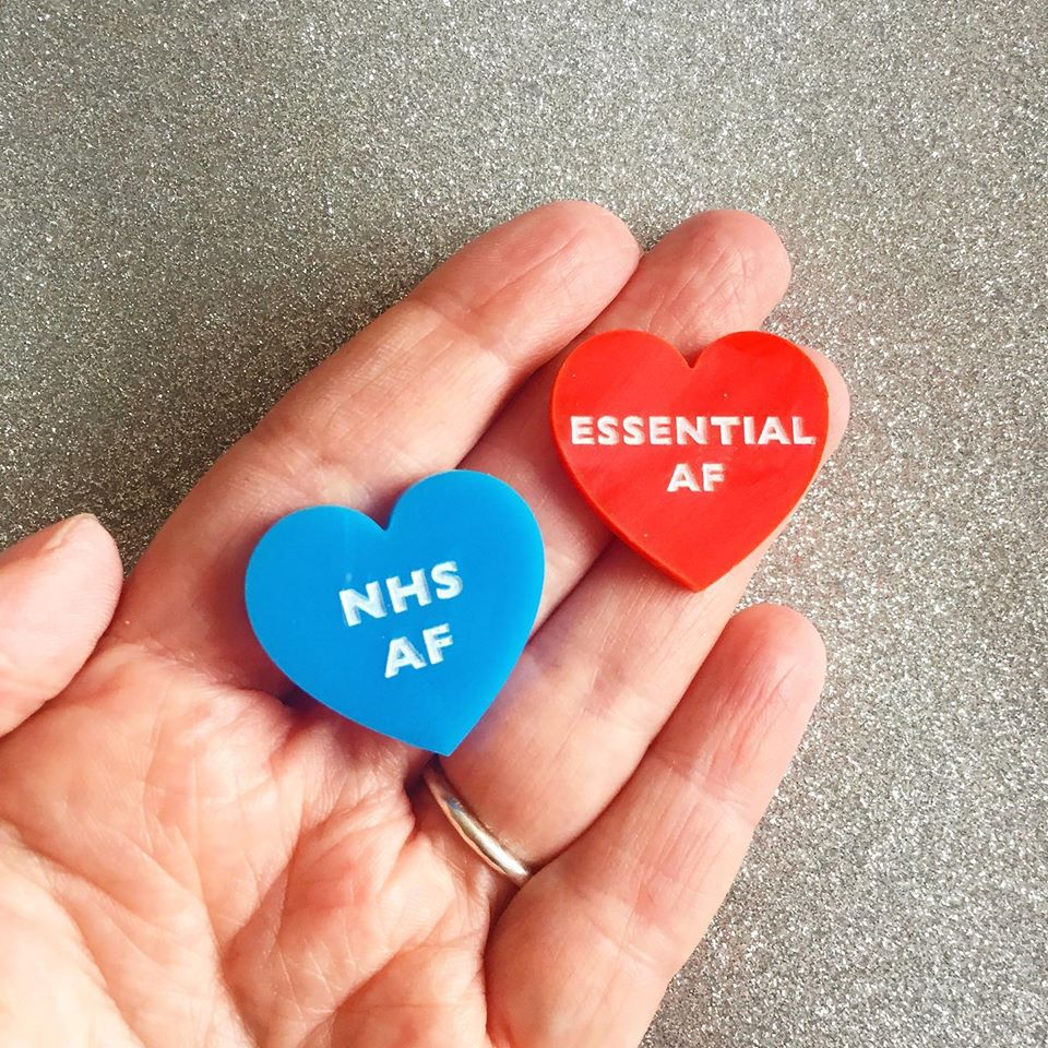 NHS AF or ESSENTIAL AF Acrylic Pin - All Profits donated to the NHS!
