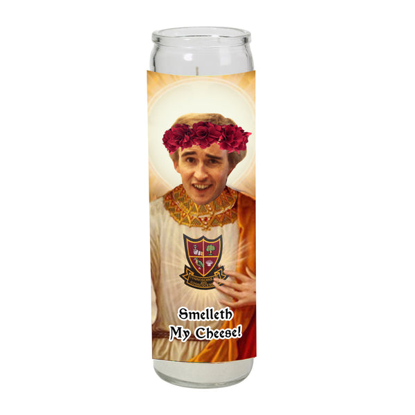 ALAN PARTRIDGE smell my cheese prayer candle SAINT religious celebrity from LA LA LAND