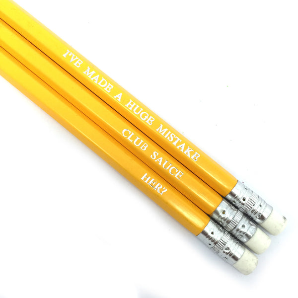 Arrested Development hand stamped quote pencils by POPCULT from LA LA LAND