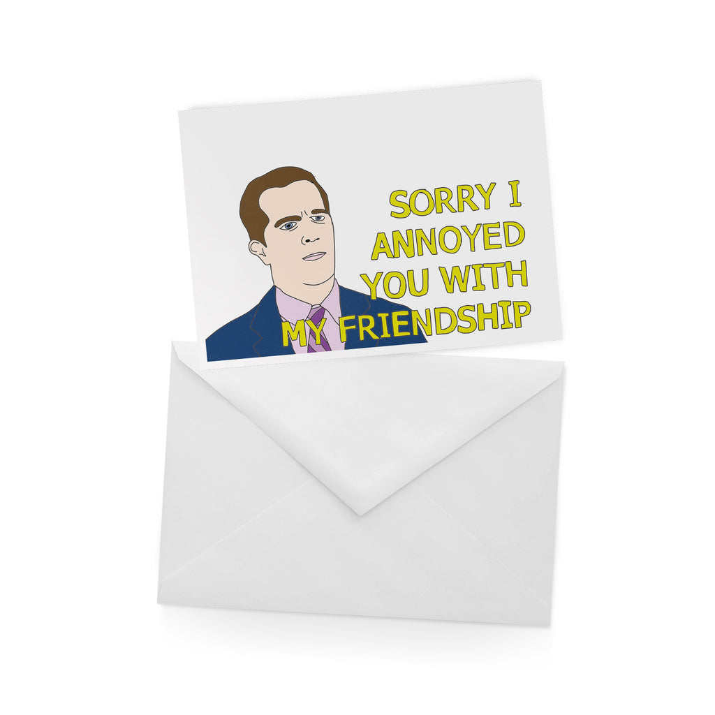 Andy Bernard THE OFFICE greetings card from LA LA LAND