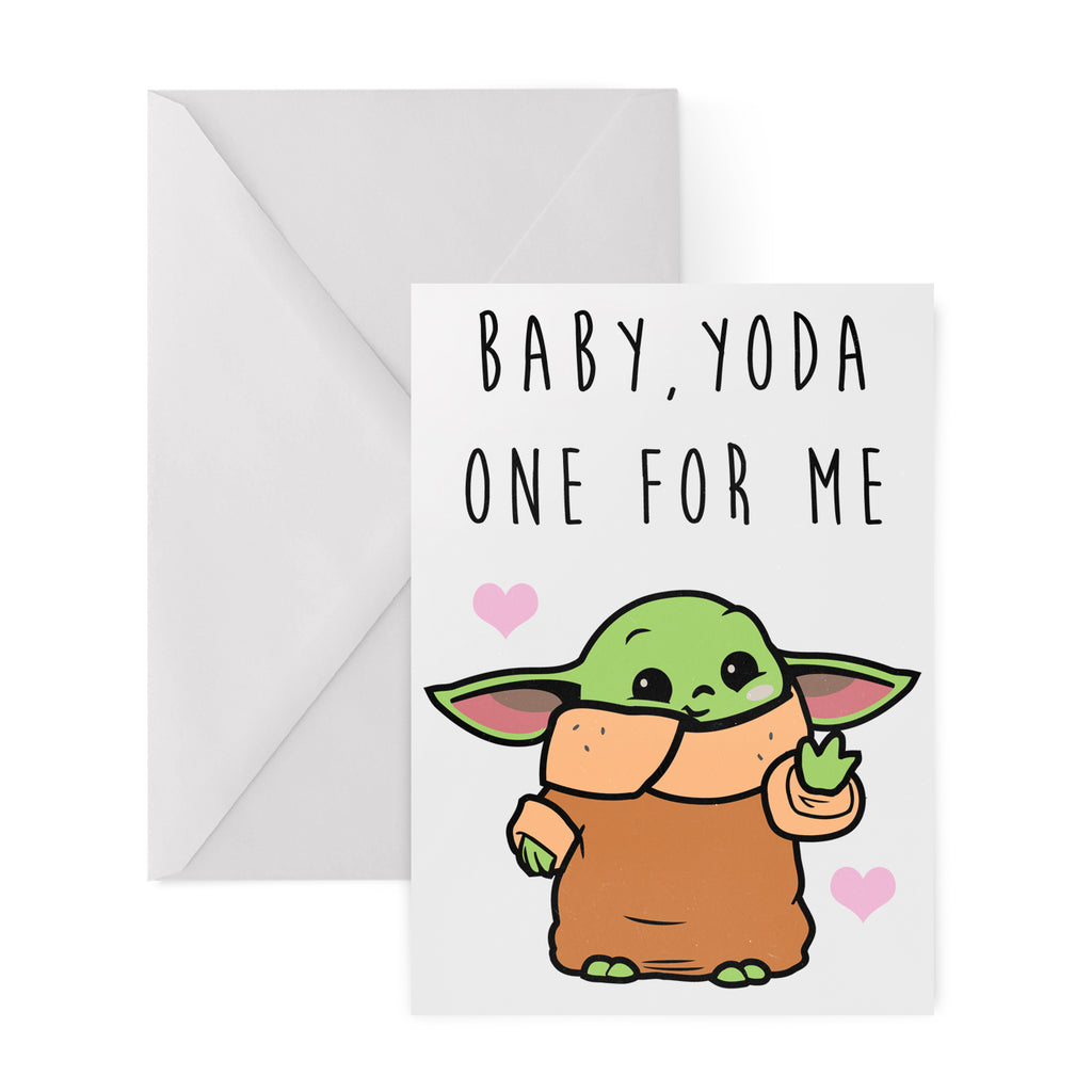 BABY, YODA ONE FOR ME Greetings Card