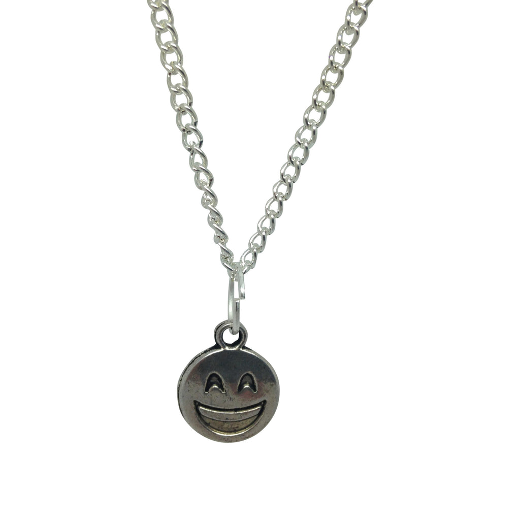 BIG SMILEY silver plate emoji necklace from LA LA LAND