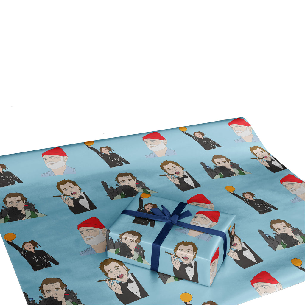 BILL MURRAY murray christmas WES ANDERSON life aquatic STEVE ZISSOU christmas gift wrap WRAPPING PAPER from LA LA LAND