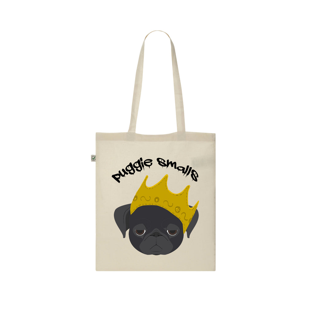 Biggie Smalls PUGGIE SMALLS notorious b.i.g tote bag by Rogue Tigers