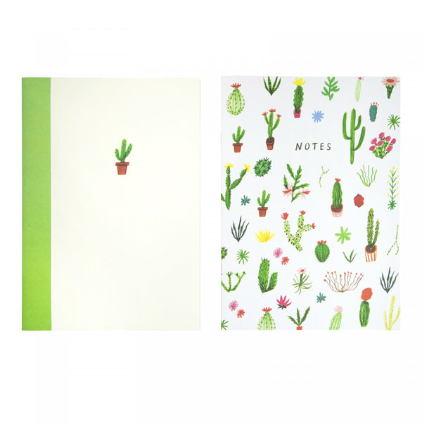 CACTUS CACTI notebook pack or 2 notepads by Nina Cosford from LA LA LAND