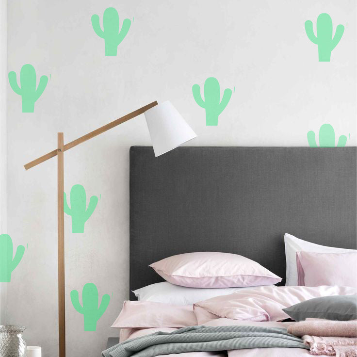 Cactus green wall decals by la la land