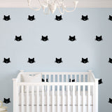 CAT FACE BLACK WALL DECALS by LA LA LAND