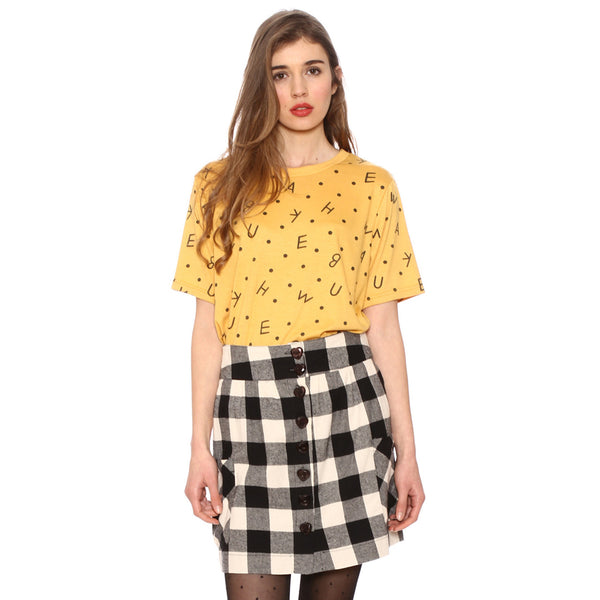 CHECKED lumberjack button down skirt by PEPA LOVES from LA LA LAND £35