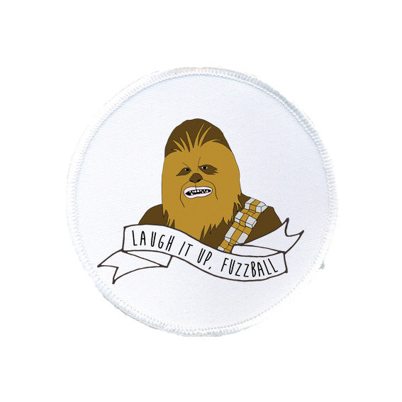 CHEWBACCA laugh it up fuzzball STAR WARS sew on patch WOOKIEE from LA LA LAND