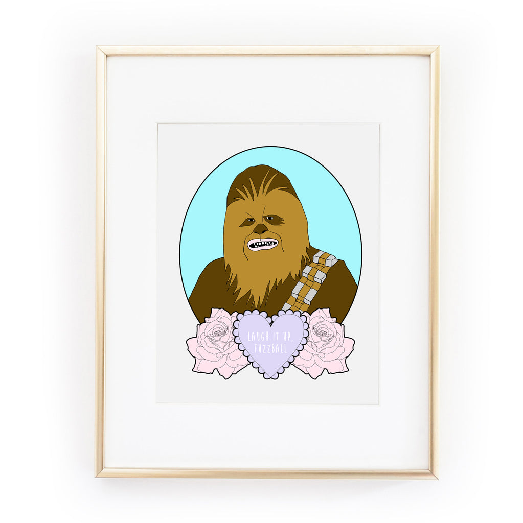 LAUGH IT UP, FUZZBALL ART PRINT