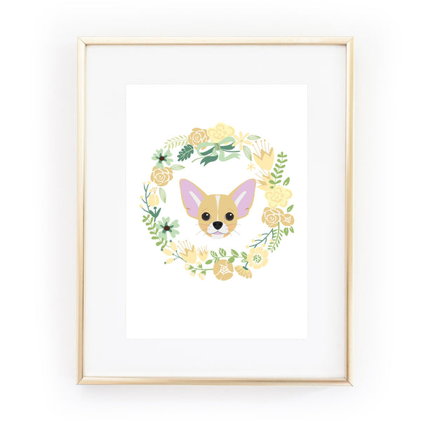 CHIHUAHUA dog art print from LA LA LAND